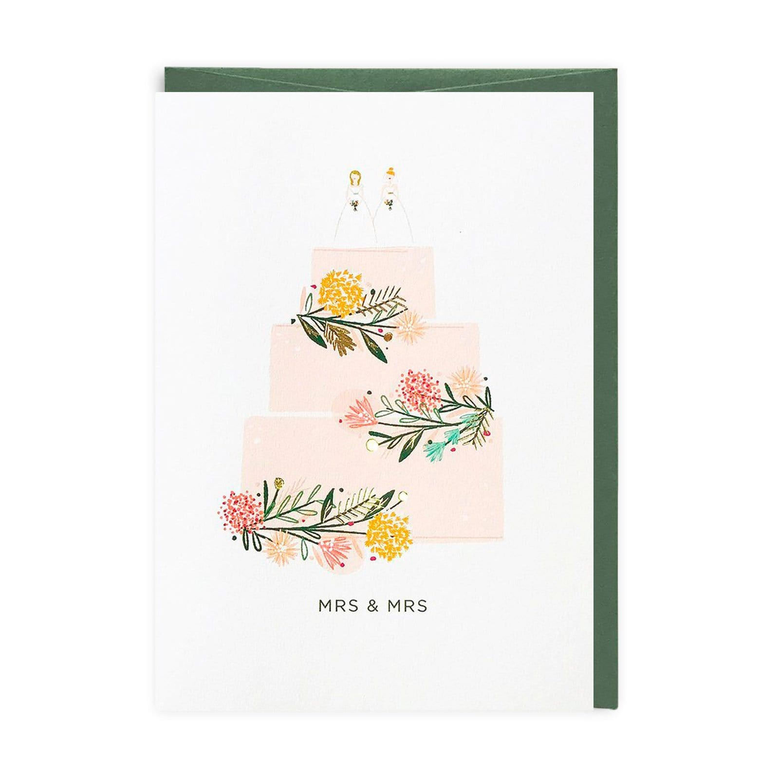 Mrs & Mrs Greeting Card