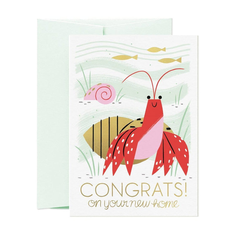 Hermit Crab New Home Greeting Card