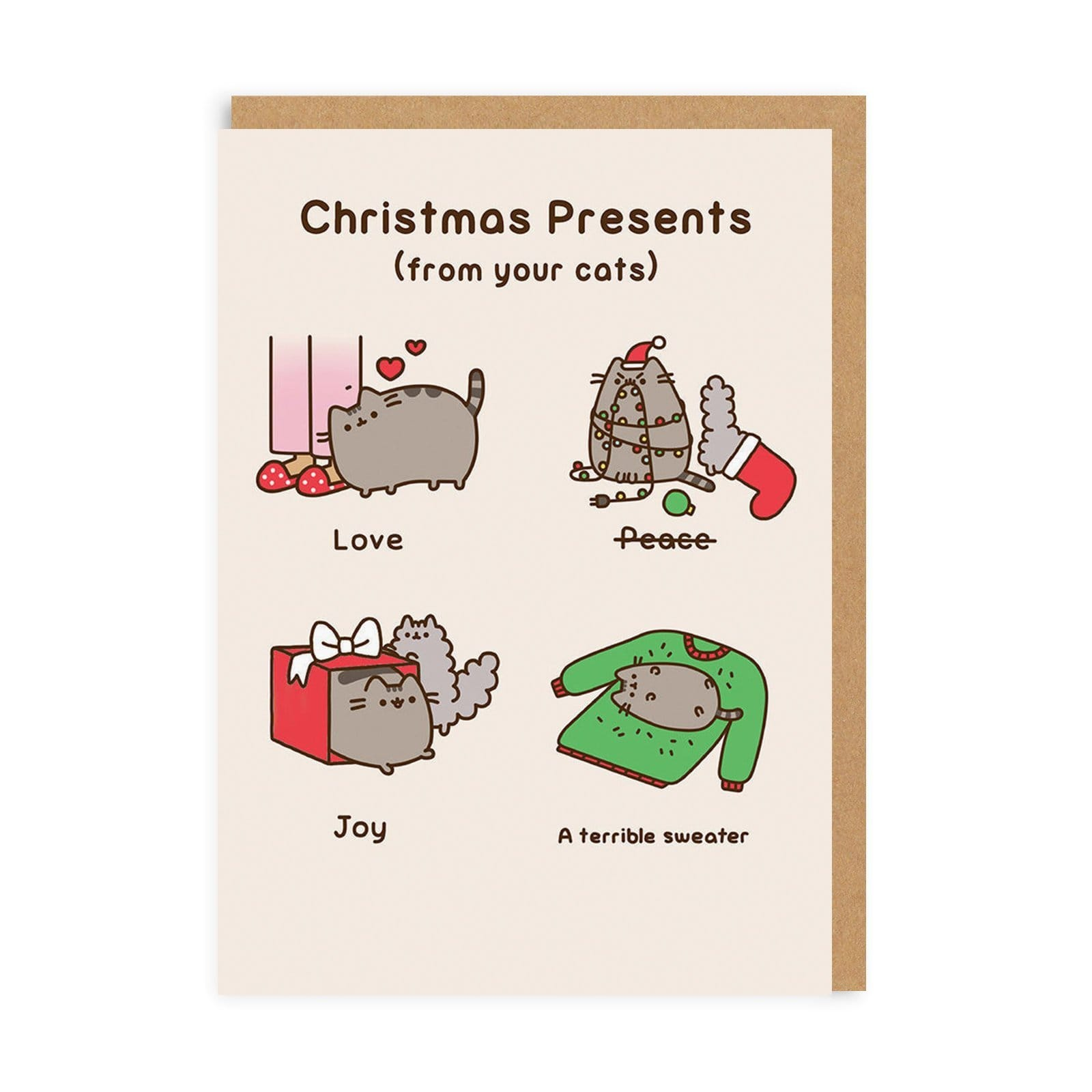 Pusheen Presents From Your Cat Greeting Card
