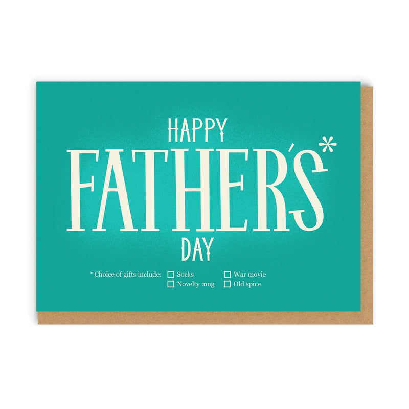 Star Father's Day Greeting Card