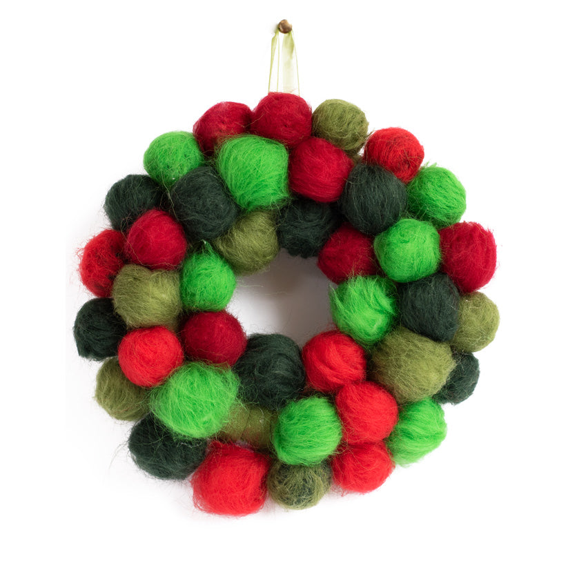 Pom Pom Christmas Wreath Kit