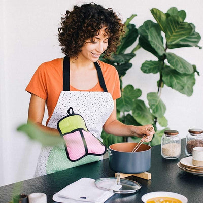 Californian Roll Apron Pot Holder And Tea Towel