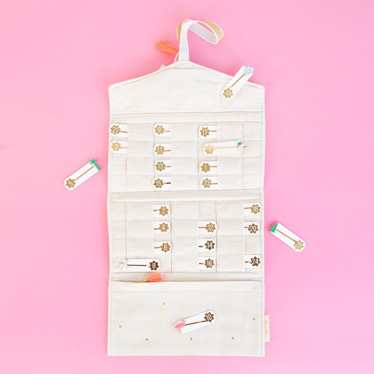 Enamel Hairslide Advent Calendar