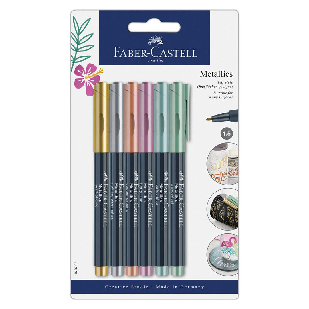Metallic Marker Pens - 6 Colours