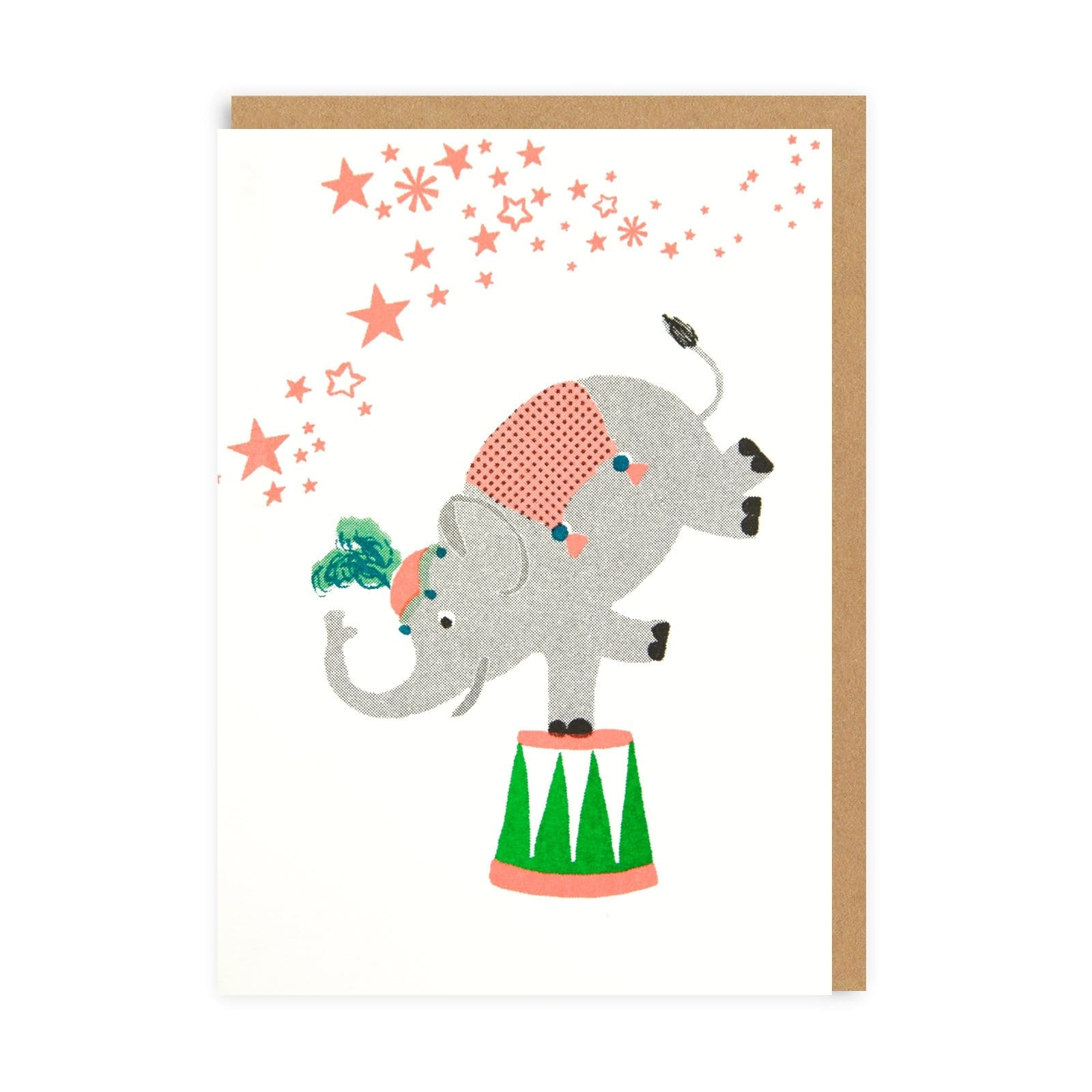 Confetti Pets Elephant Greeting Card