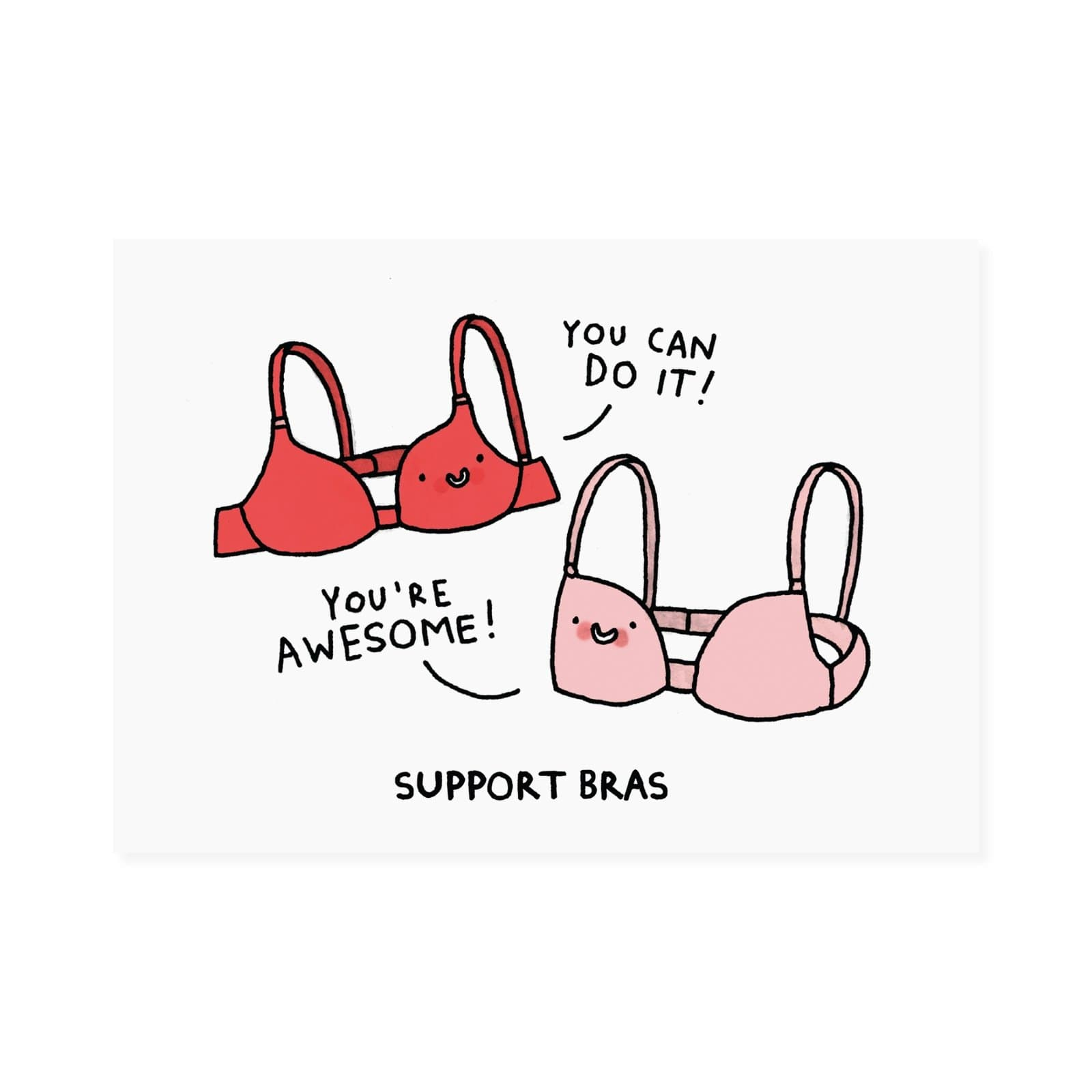 Support Bra Postcard
