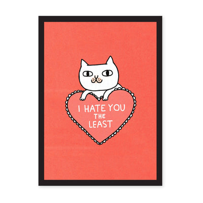 A3 I Hate You The Least Riso Print