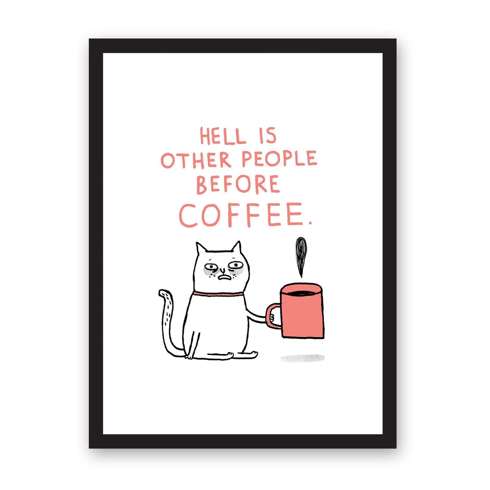 Hell Is Other People Riso Print