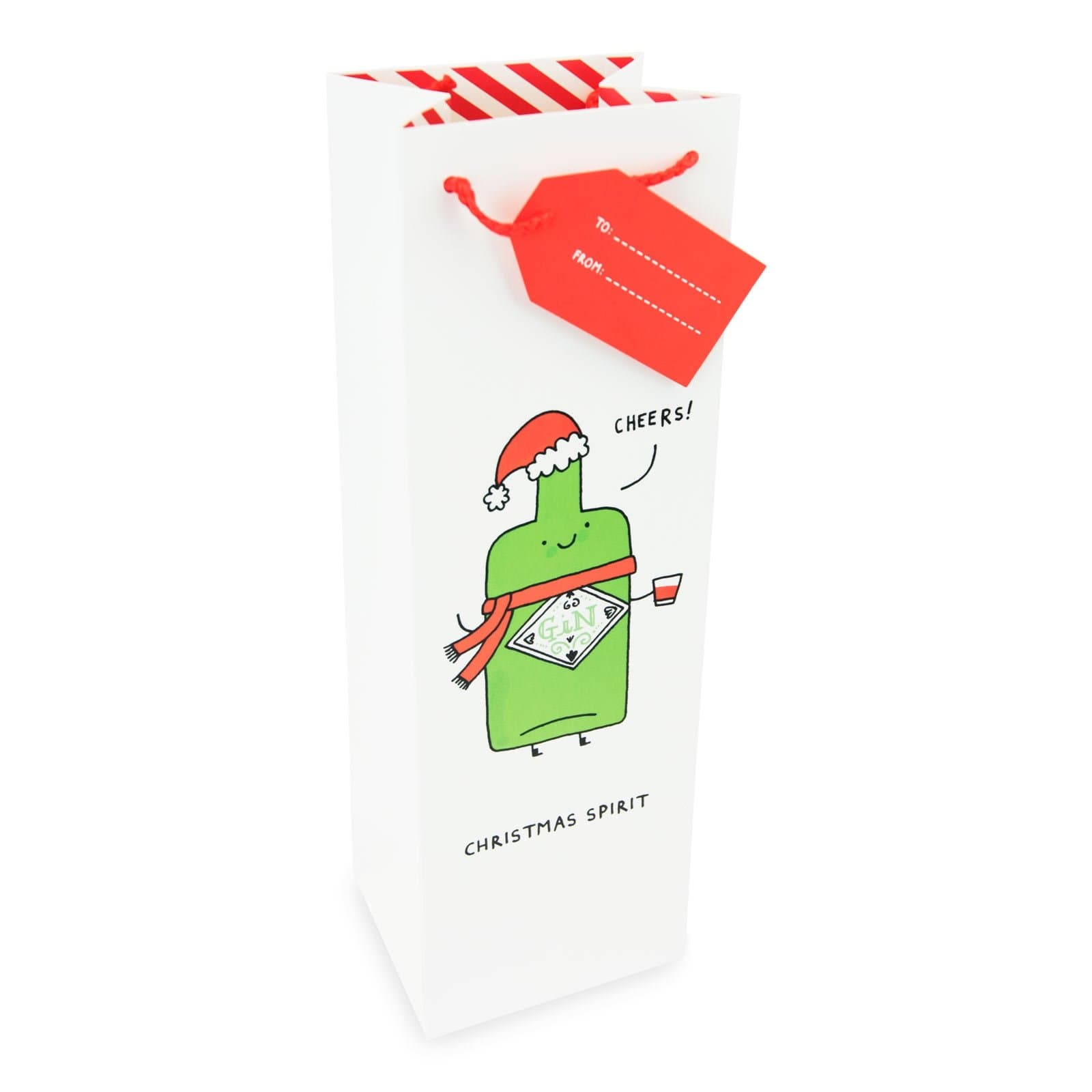 Christmas Spirit Bottle Bag