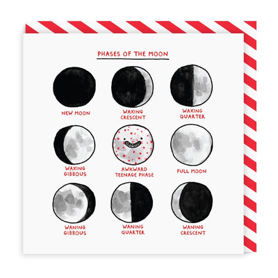 Phases Of The Moon Square Greeting Card
