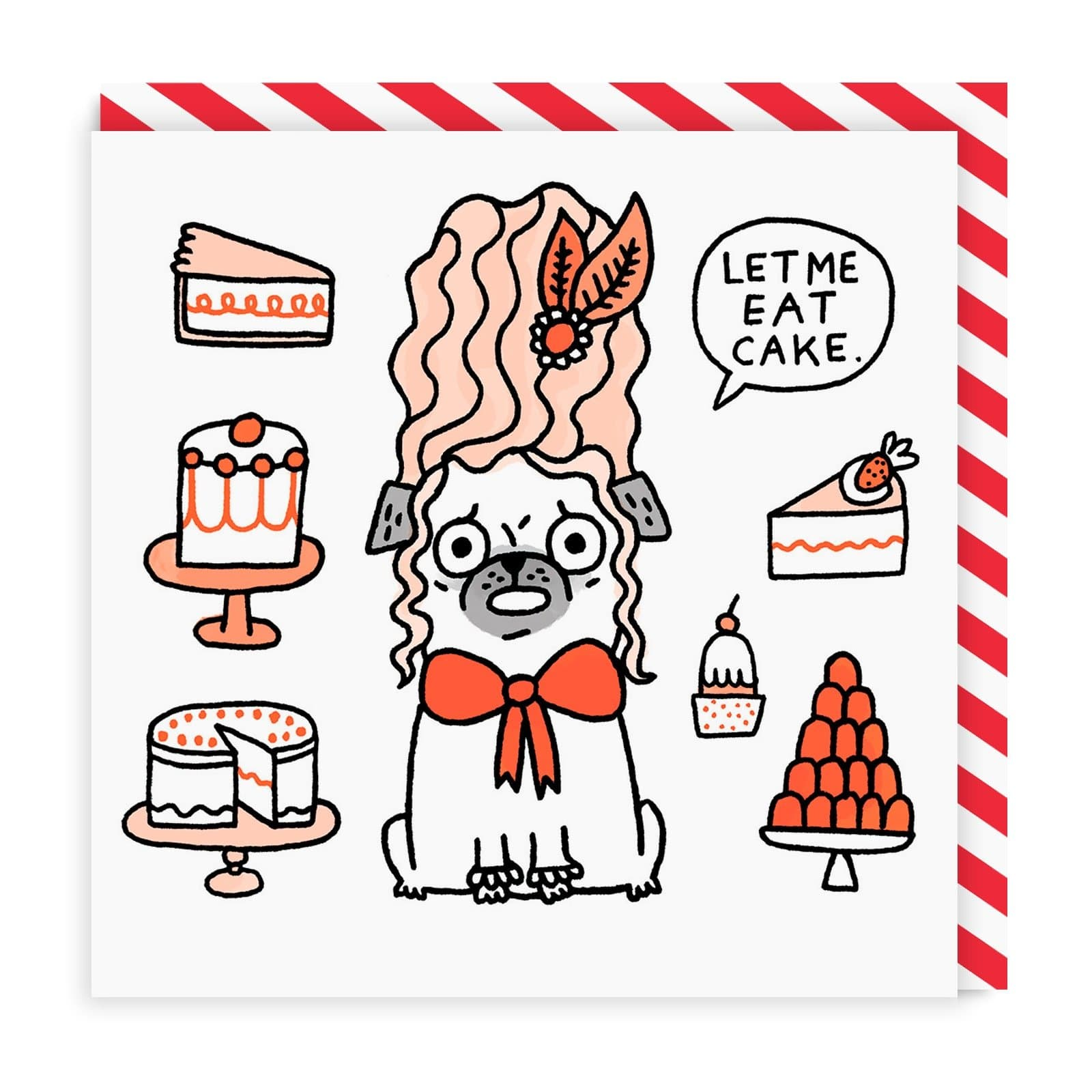 Let Me Eat Cake Square Greeting Card