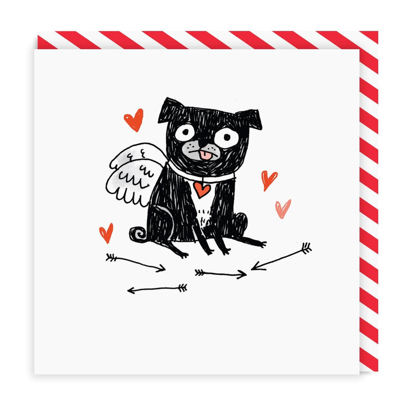My Puggy Valentine Greeting Card