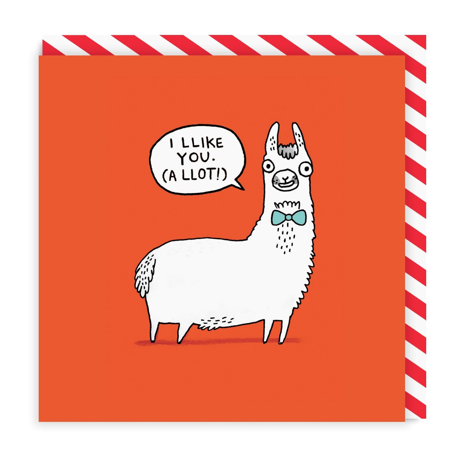 Llama Llikes You Greeting Card