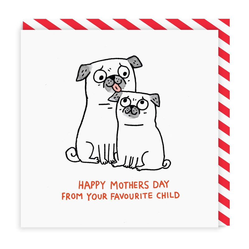 From Your Favourite Child Square Mother's Day Greeting Card