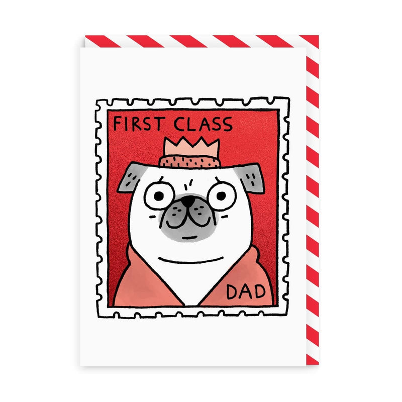 First Class Dad Greeting Card