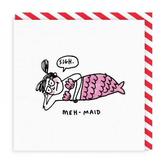 Meh Maid Square Greeting Card