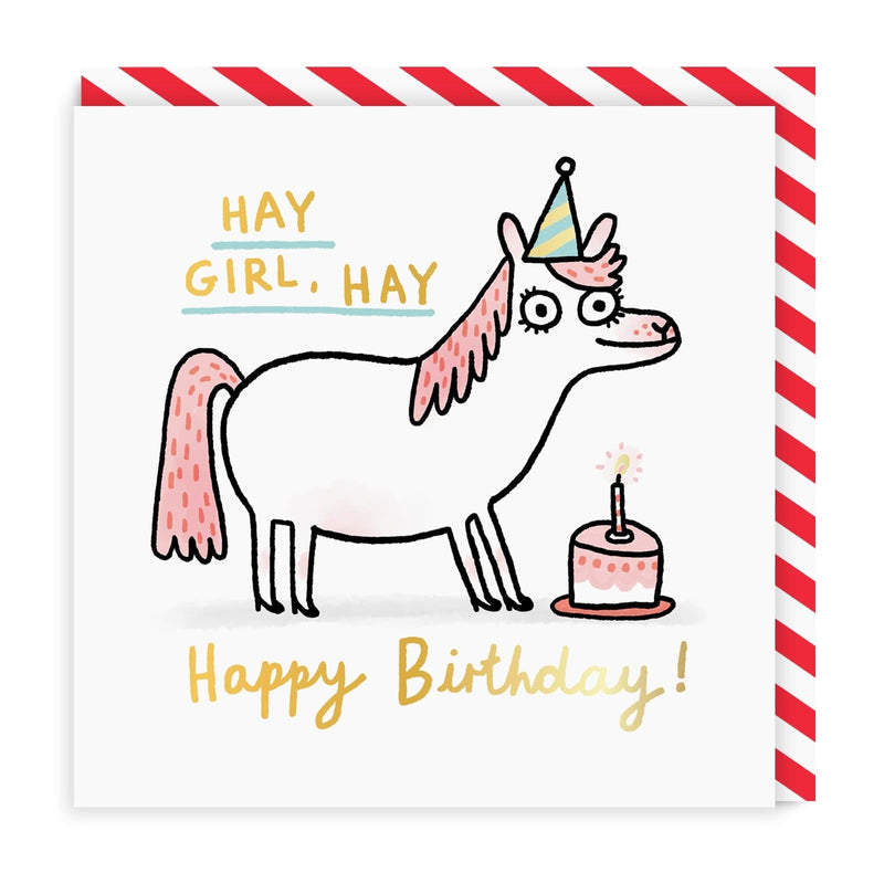 Hay Girl, Hay Square Greeting Card