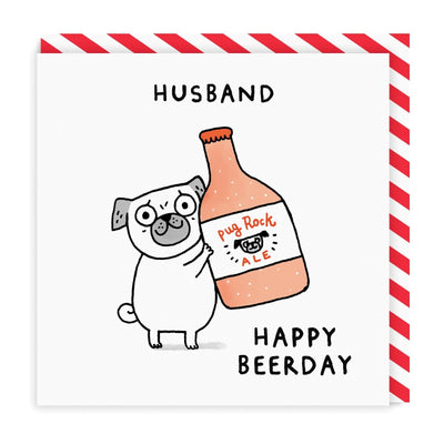 Husband Beer-Day Square Greeting Card