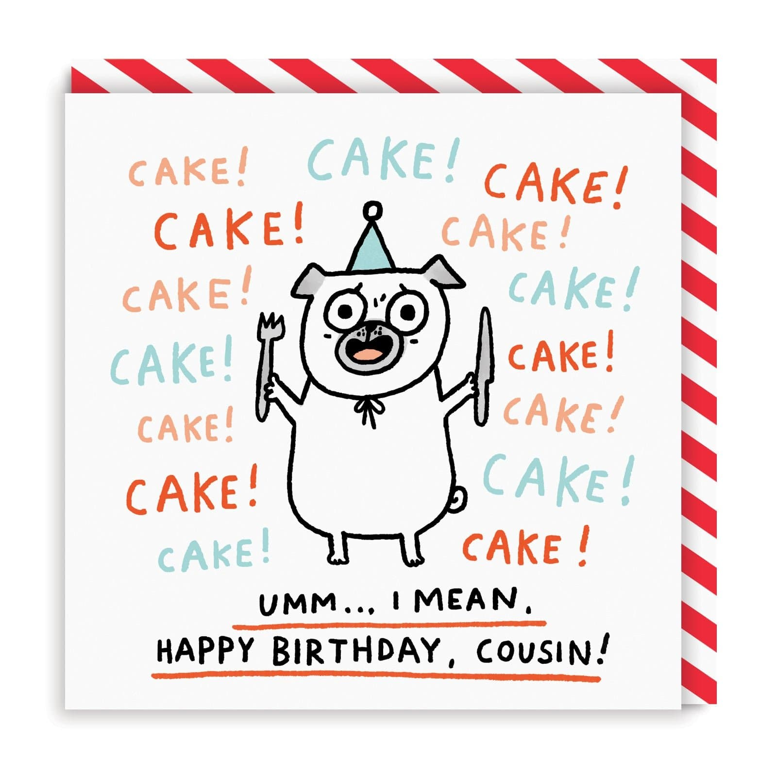 Cake Cousin Square Greeting Card