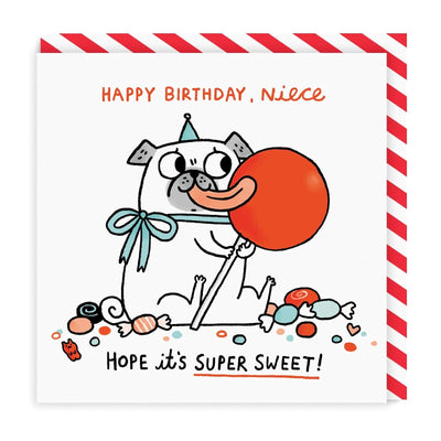 Super Sweet Niece Square Greeting Card