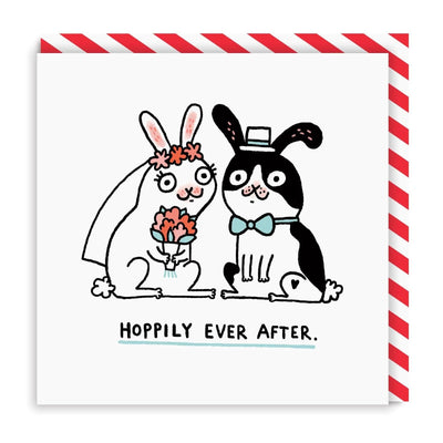 Hoppily Ever After Square Greeting Card