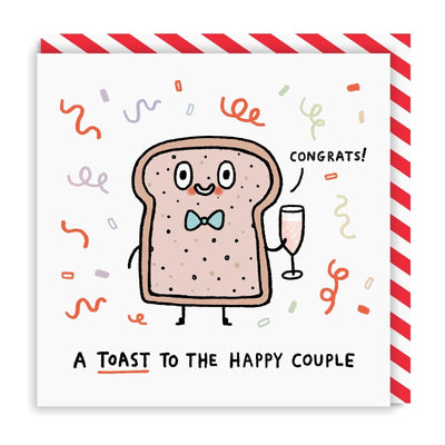 Toast To The Happy Couple Square Greeting Card
