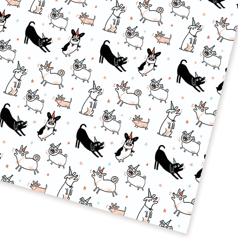 Party Dogs Gift Wrap