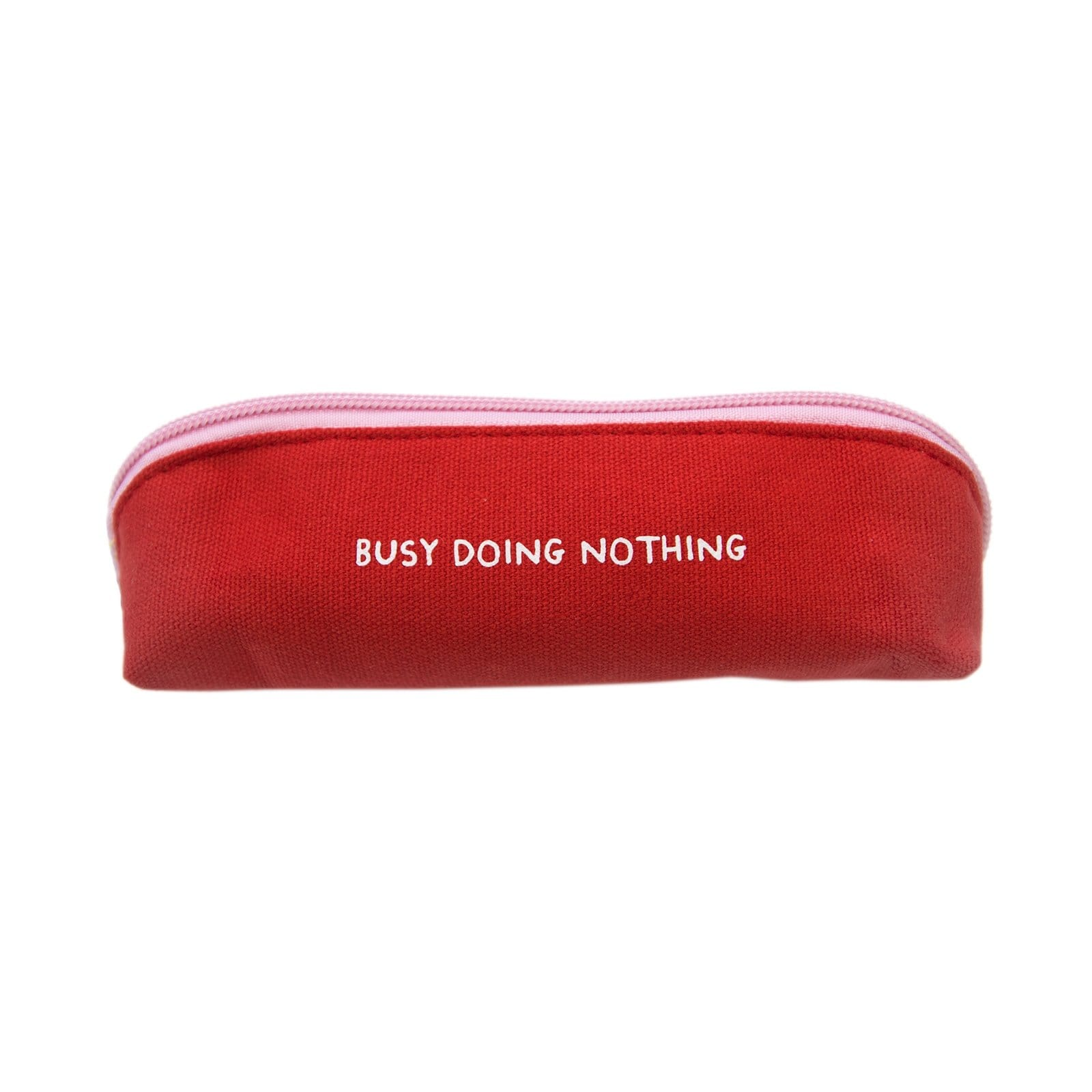 Busy Doing Nothing Red Skinny Pencil Case