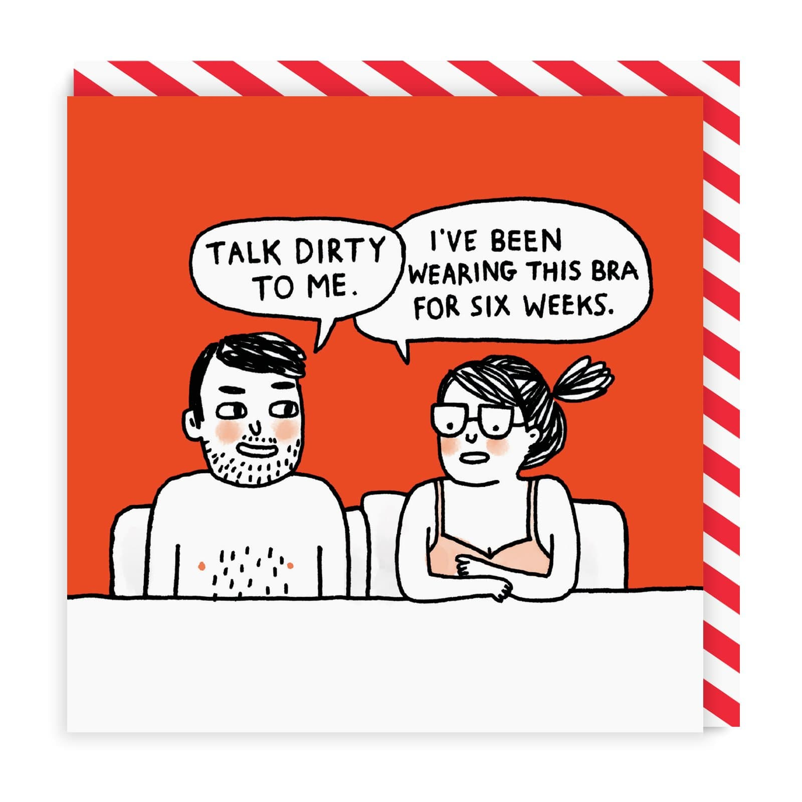 Talk Dirty To Me Square Greeting Card