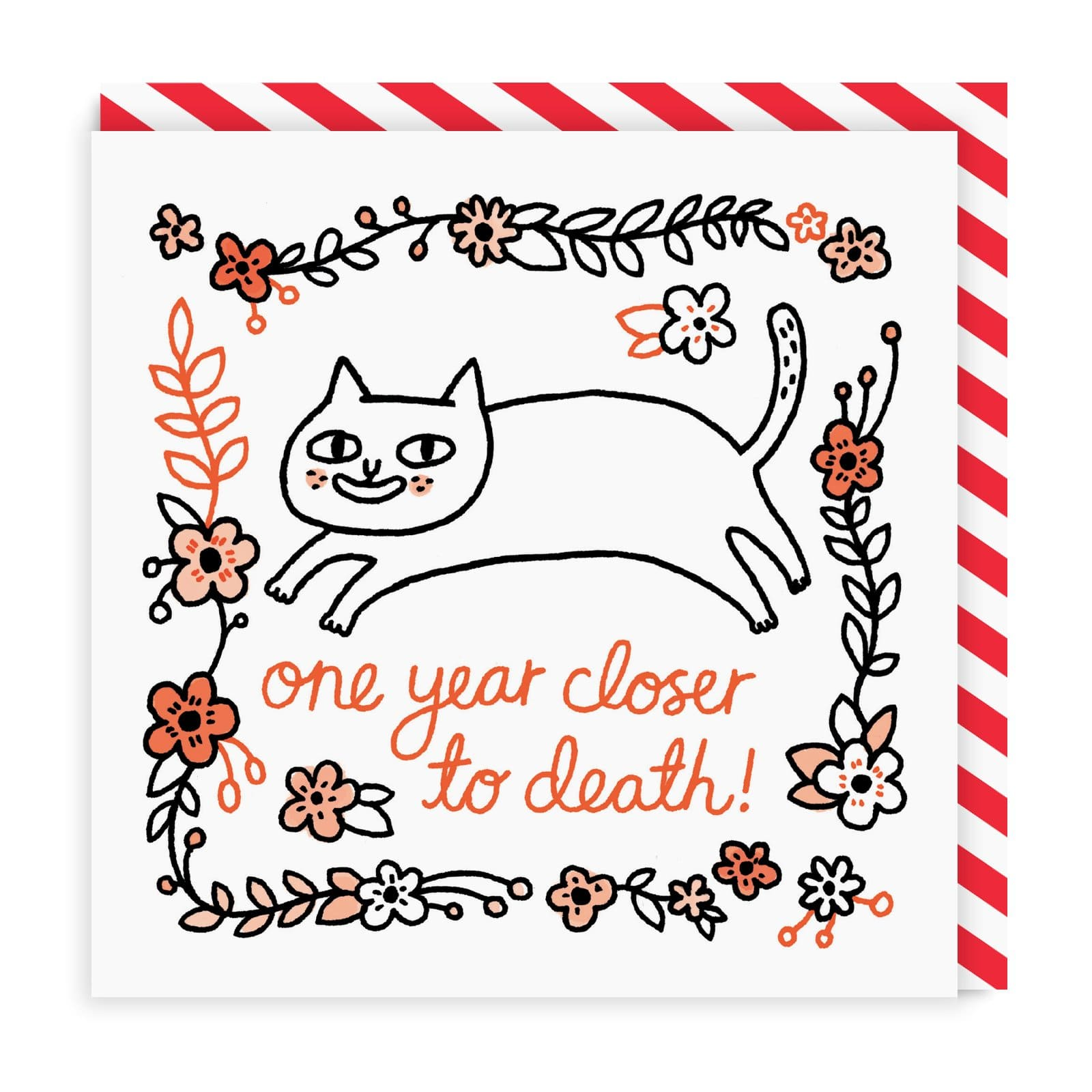 One Year Closer To Death Birthday Square Greeting Card