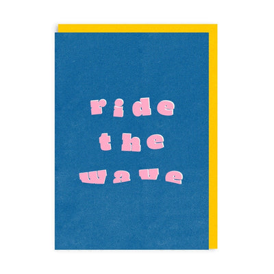 Ride The Wave Riso Greeting Card