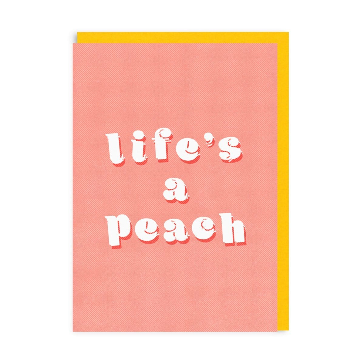 Lifes A Peach Riso Greeting Card