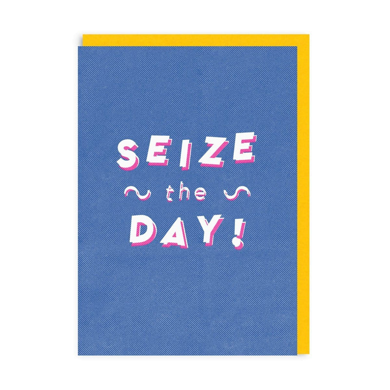 Seize The Day Riso Greeting Card