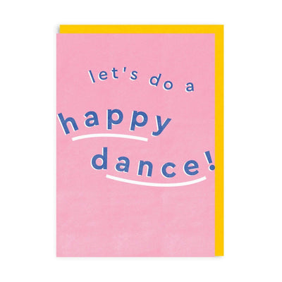 Lets Do A Happy Dance Riso Greeting Card