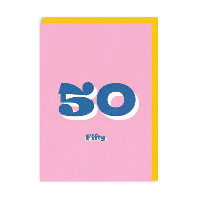 50th Birthday Riso Greeting Card