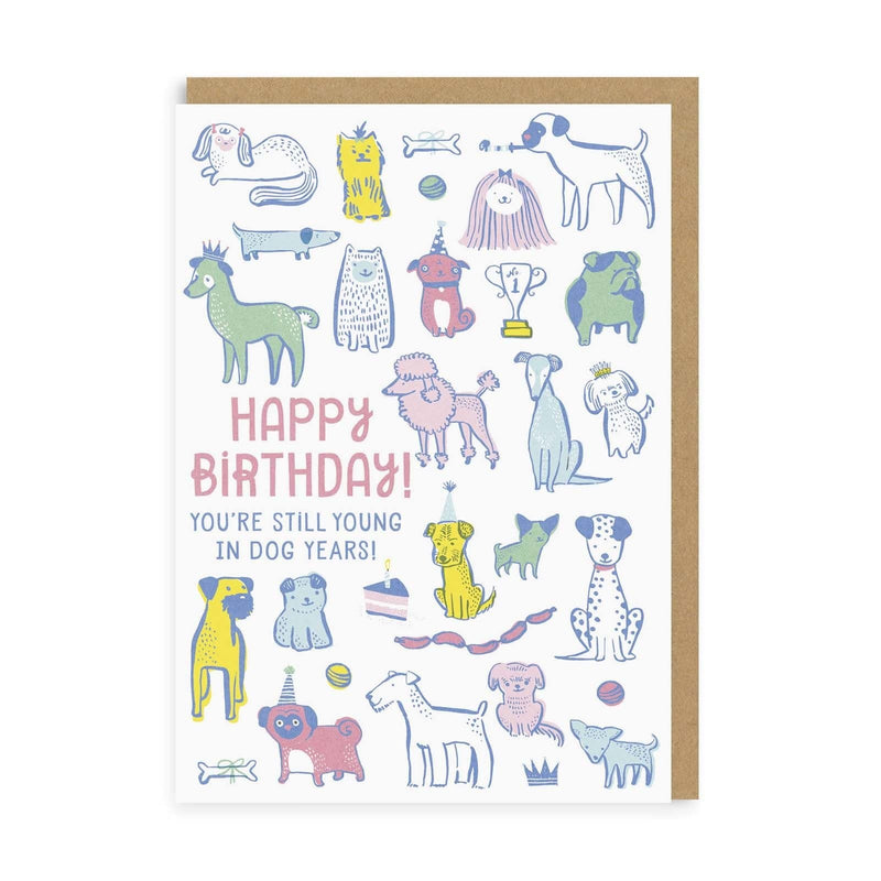 Young In Dog Years Birthday Greeting Card