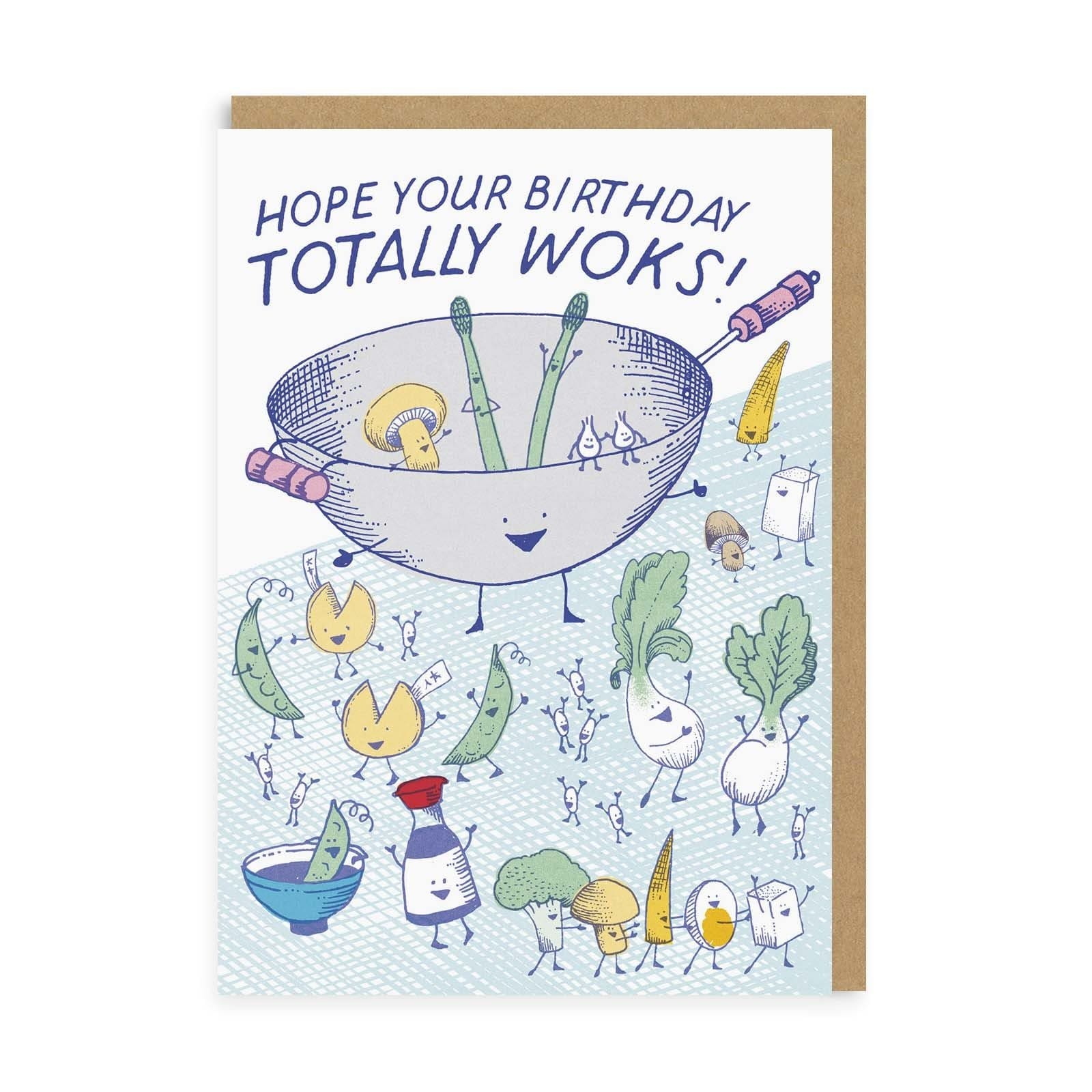 Totally Woks Birthday Greeting Card