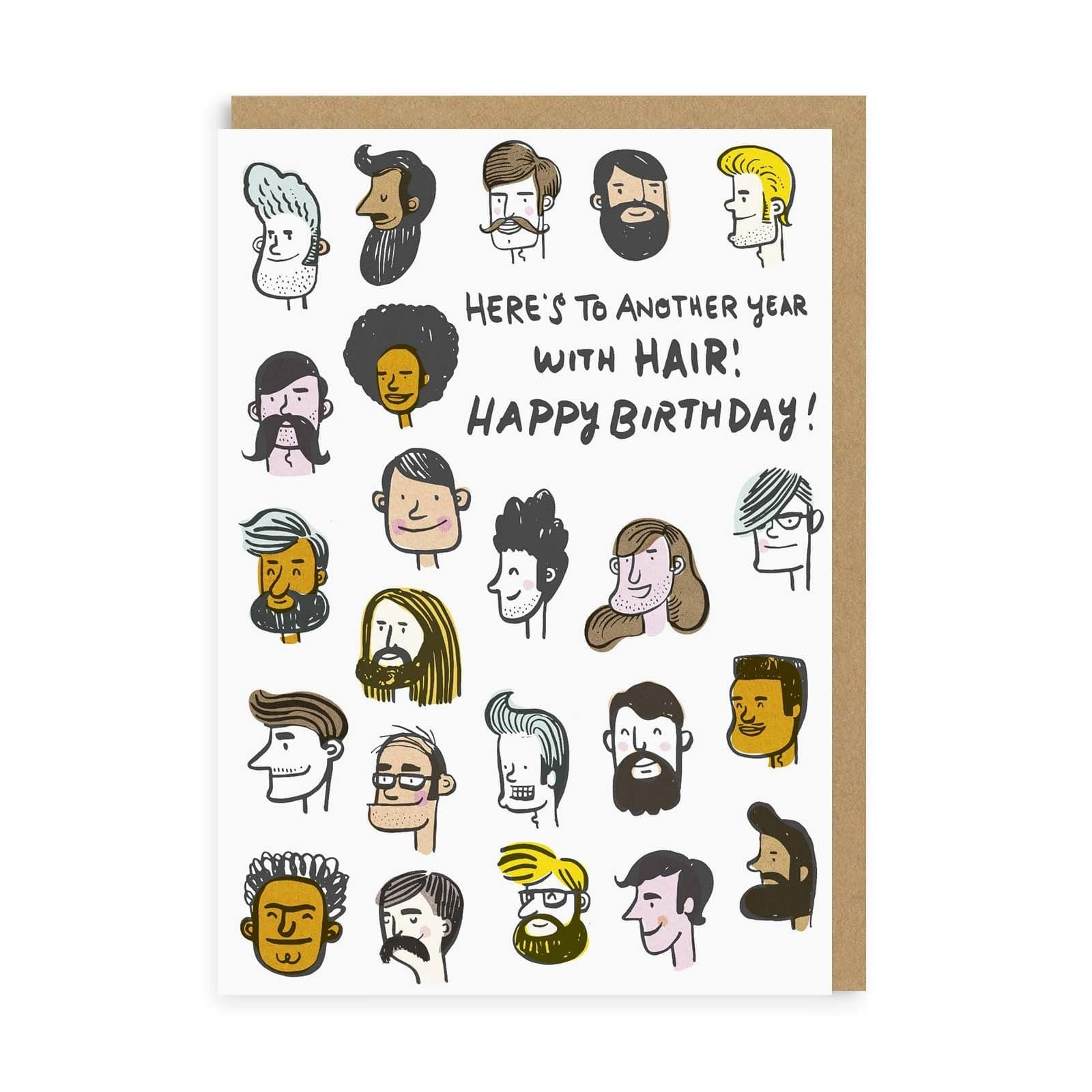 Another Year With Hair Greeting Card