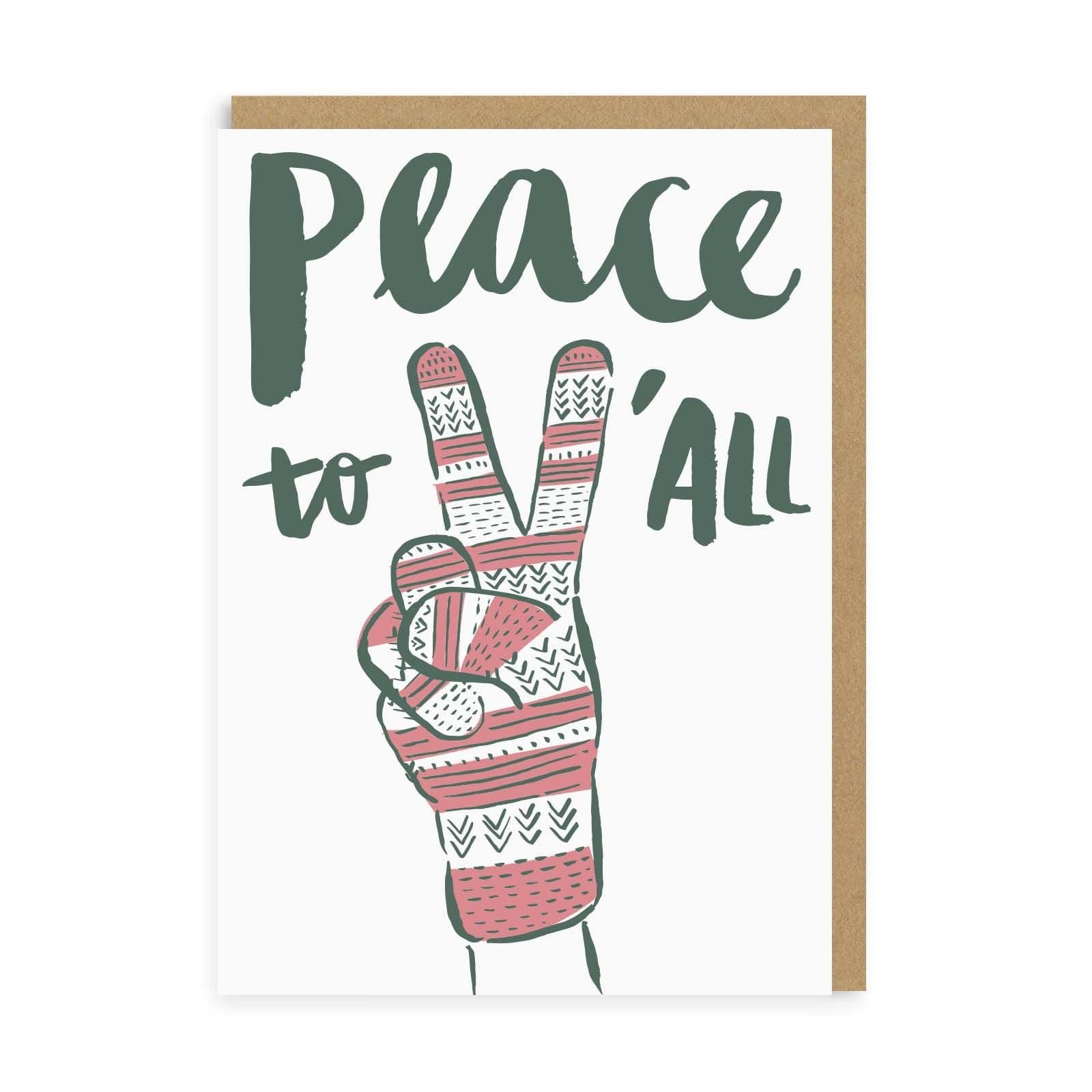Peace & Glove Greeting Card