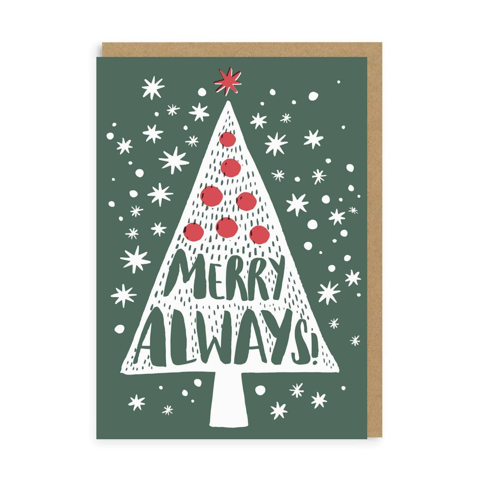 Merry Always Christmas A6 Boxed Card Set
