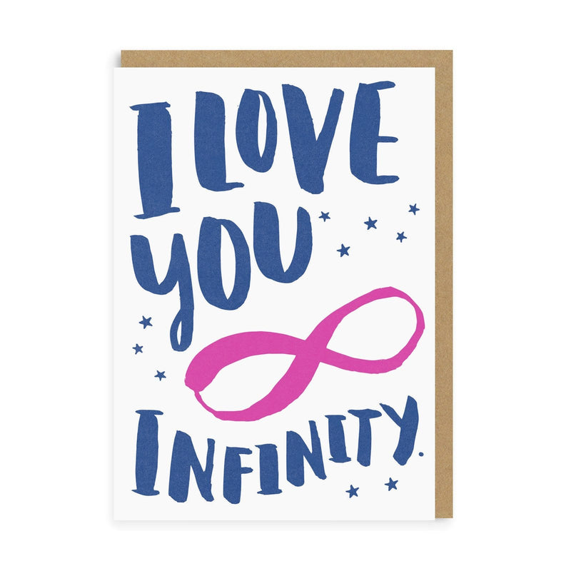 Love You Infinity Greeting Card