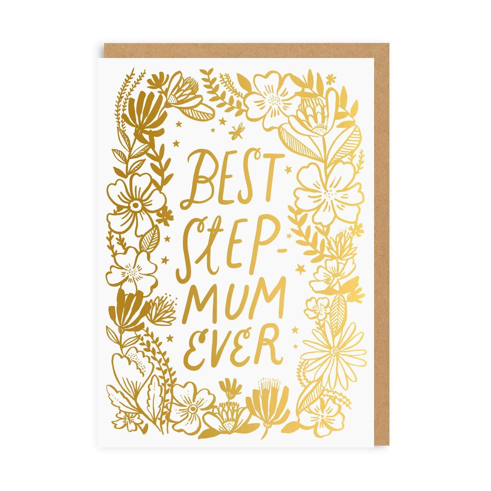 Best Step Mum Wreath Greeting Card