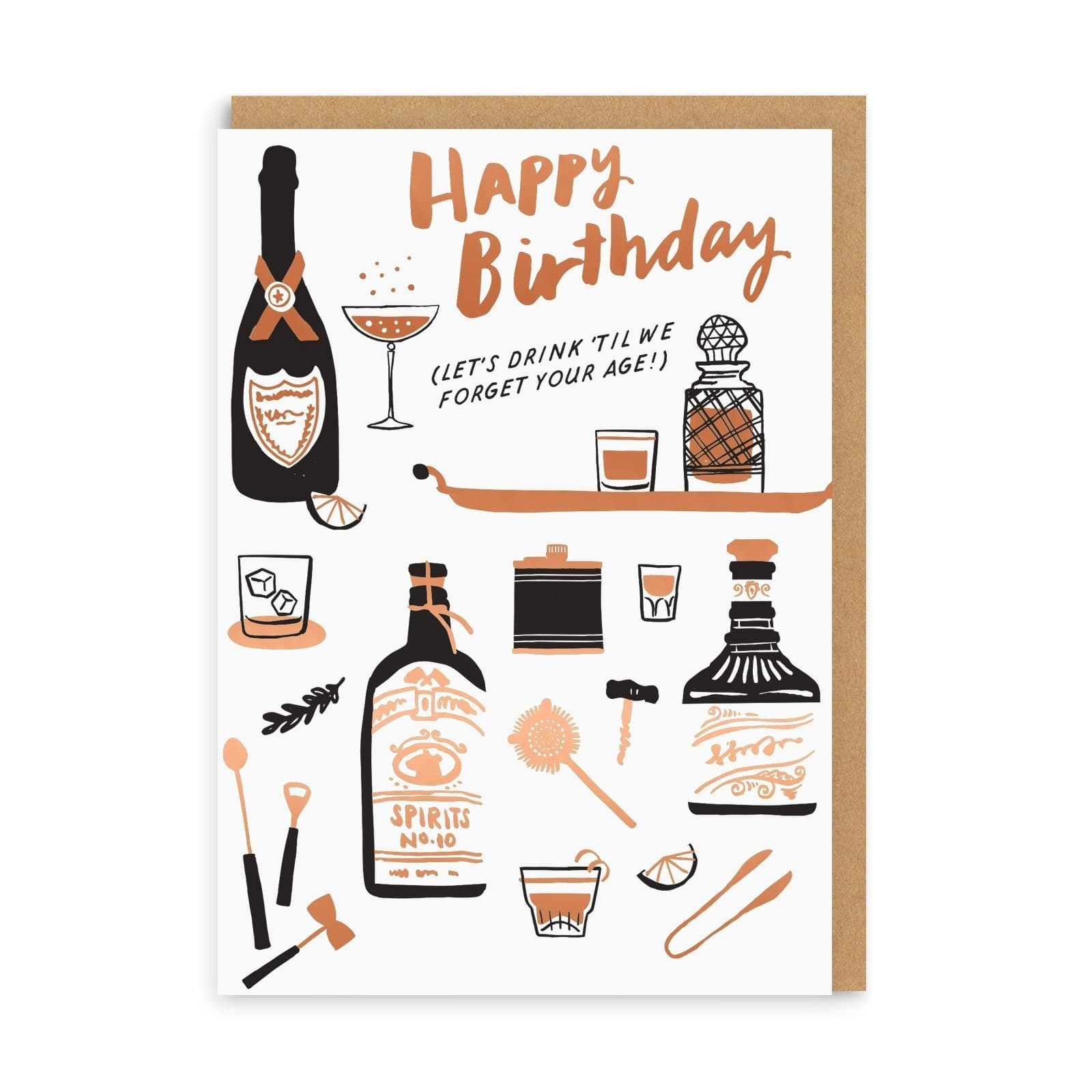 Drink To Forget Birthday Greeting Card
