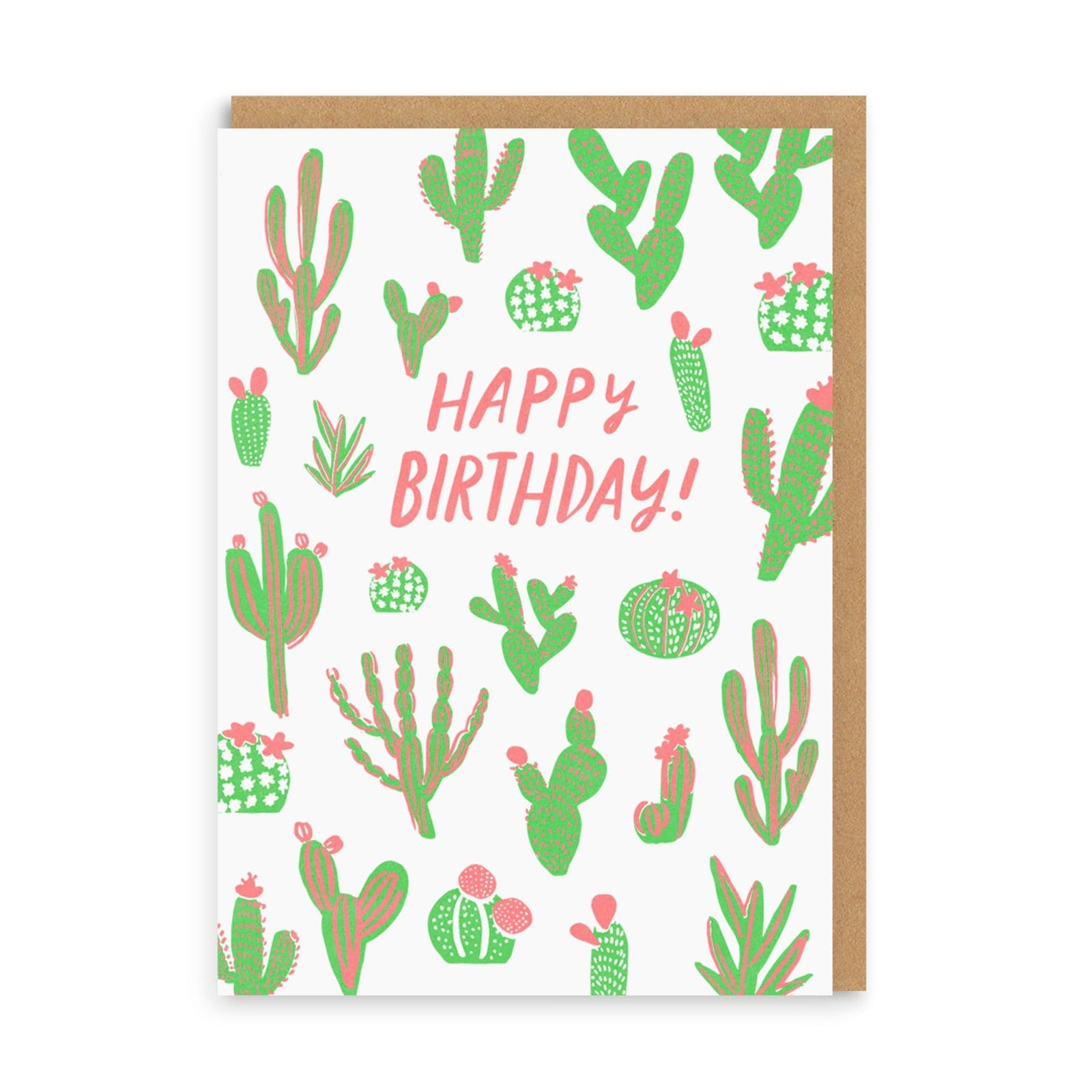 Cacti Happy Birthday Greeting Card