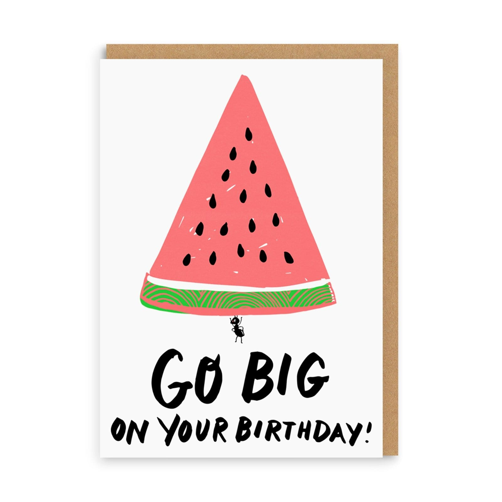 Go Big Watermelon Birthday Greeting Card