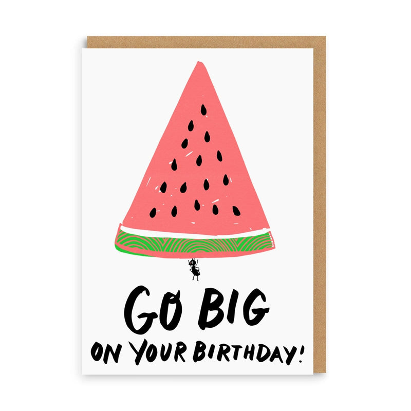 Go Big Watermelon Greeting Card