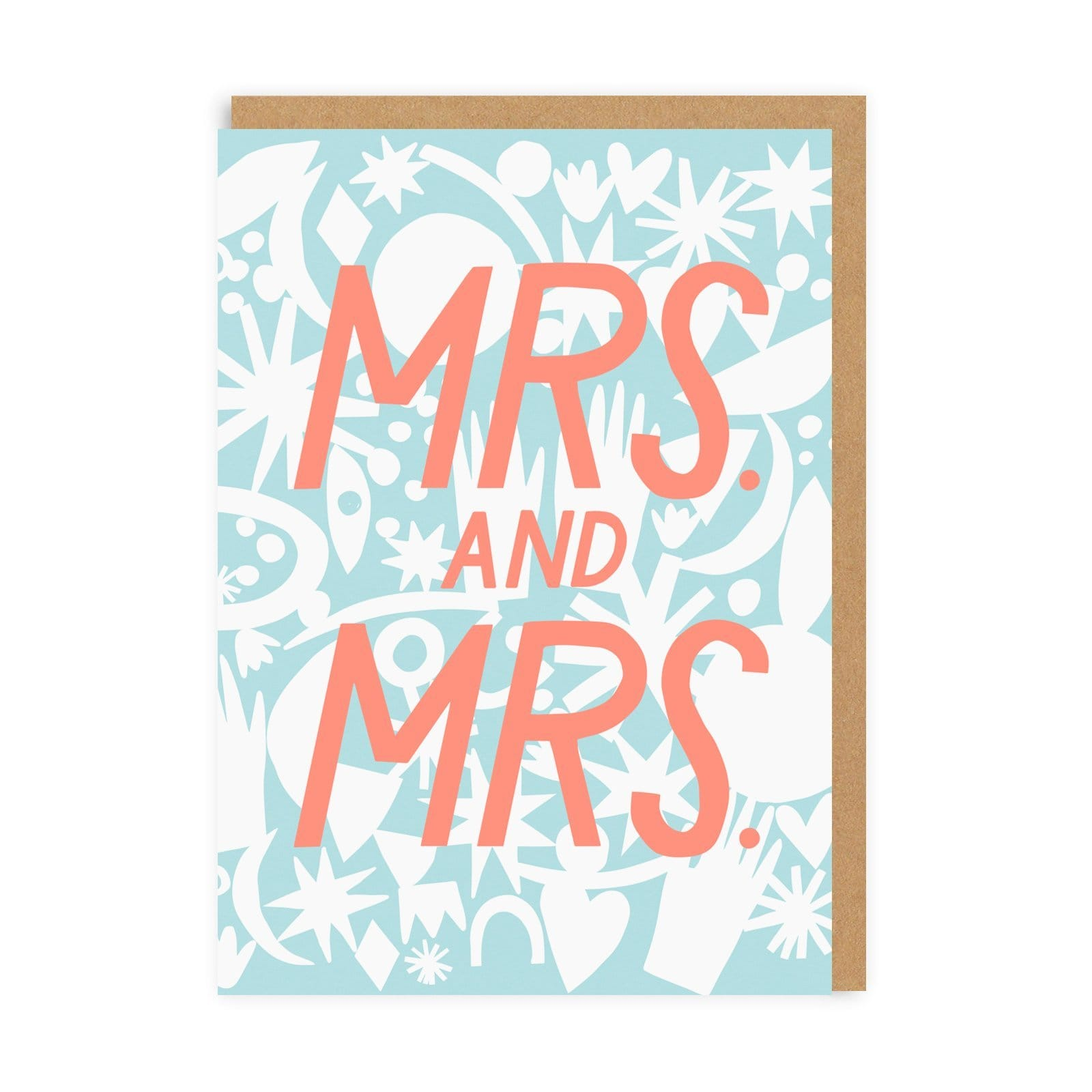 Mrs & Mrs Wedding Greeting Card