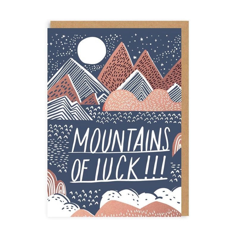 Mountains of Good Luck Greeting Card