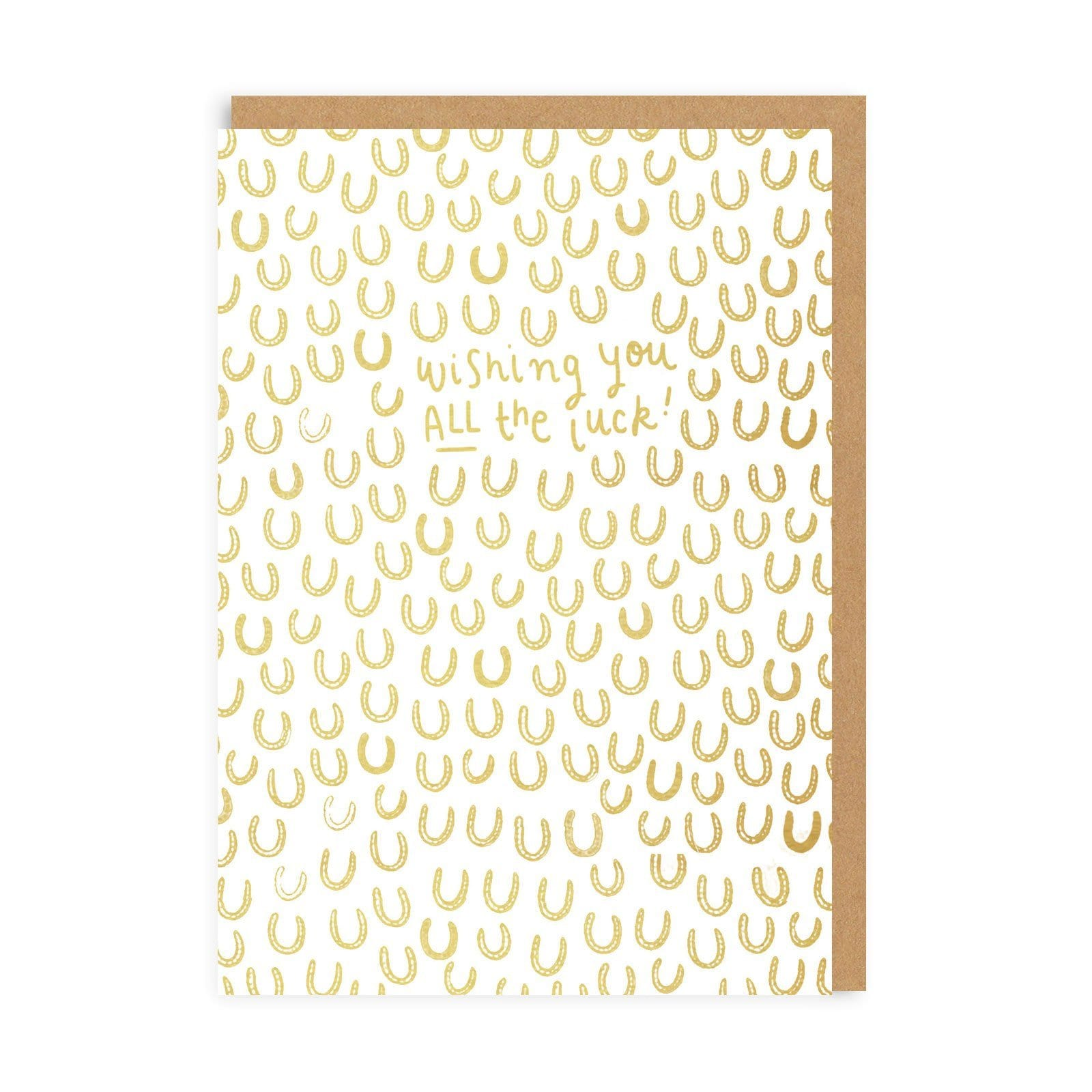 Wishing You All The Luck Greeting Card