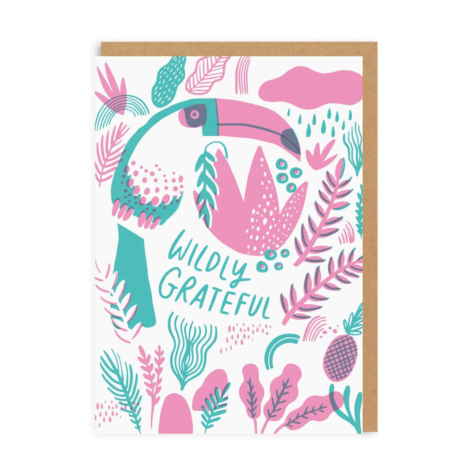 Wildly Grateful Greeting Card